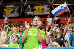 Fans during friendly basketball match between National teams of Slovenia and Belgium at day 2 of Adecco Cup 2016, on August 6 in Zlatorog, Celje, Slovenia. Photo by Matic Klansek Velej / Sportida