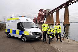 Inspector Ian Paul and David Bulloch with the camera and Bike<br /> <br /> (c) David Wardle | Edinburgh Elite media