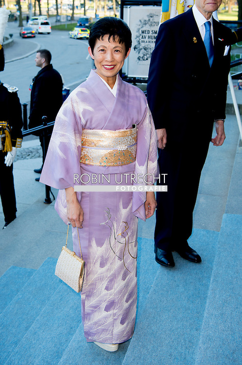29-4-2016 STOCKHOLM -Princess Takamado of Japan   The Royal Swedish Opera and Stockholm Concert Hall will give a concert &ndash; The Nordic Museum, Arrival of guests. celebration of The King&rsquo;s 70th birthday  King Carl Gustaf, Queen Silvia, Crown Princess Victoria, Prince Daniel, Prince Carl Philip, Princess Madeleine and Chris O&rsquo;Neill arrive at the Nordic museum for the concert by the Royal Swedish Opera and Stockholm Concert on the occasion of the 70th birthday of The Swedish King in Stockholm, Sweden, 29 April 2016 COPYRIGHT ROBIN UTRECHT<br /> 29-4-2016 STOCKHOLM - De Scandinavische Museum, Aankomst van de gasten - De Koninklijke Zweedse opera en Stockholm Concert Hall zal een concert geven. viering van The King's 70ste verjaardag van koning Carl Gustaf, Koningin Silvia, kroonprinses Victoria, Prins Daniel, prins Carl Philip, prinses Madeleine en Chris O'Neill komen op de Nordic museum voor het concert van de Koninklijke Zweedse opera en Stockholm Concert ter gelegenheid van de 70ste verjaardag van de Zweedse koning in Stockholm, Zweden, 29 april 2016 COPYRIGHT ROBIN UTRECHT