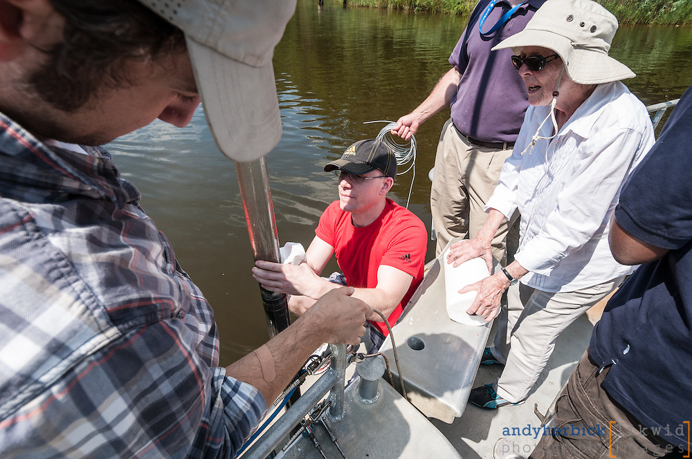 AUGUST 16, 2013 - Annapolis, MD, USA - An excursion up the Severn River and into Chesapeake Bay with students and faculty from Johns Hopkins and Howard Universities as part of the WCH IGERT. - IMAGE © 2013 Andy Herbick   www.andyherbickphotography.com - ALL RIGHTS RESERVED.