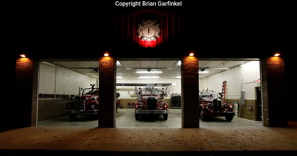 The Clifton Heights Fire Company auxiliary garage houses three antique fire trucks that were once in service with the department