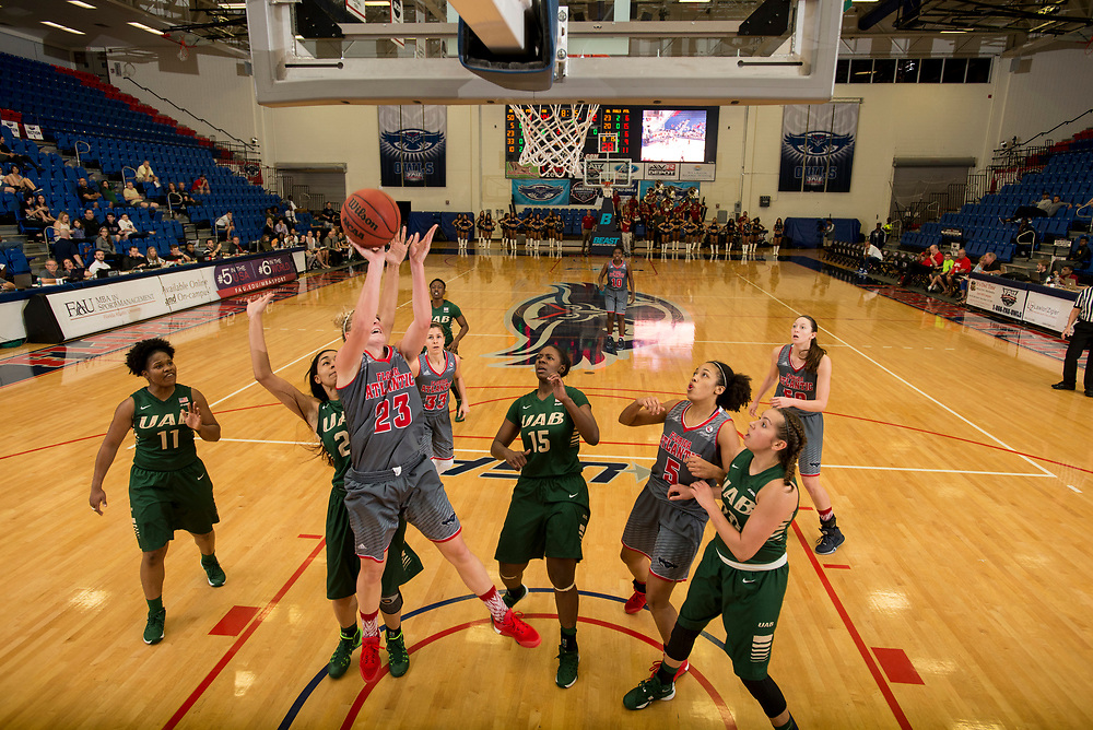 2016 FAU Women's Basketball vs Alabama-Birmingham