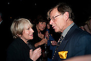 FAY WELDON; VALERIE GROVE; TREVOR GROVE, Party for Perfect Lives by Polly Sampson. The 20th Century Theatre. Westbourne Gro. London W11. 2 November 2010. -DO NOT ARCHIVE-© Copyright Photograph by Dafydd Jones. 248 Clapham Rd. London SW9 0PZ. Tel 0207 820 0771. www.dafjones.com.