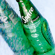 Close up product shot of Sprite bottled soda. Photographed in studio Scottsdale, Arizona. Product Photography by Brian Bossert