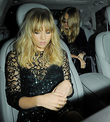 Models Suki Waterhouse and Cara Delevingne leaving the Claridges hotel in Mayfair, London, UK. 15/09/2014<br />