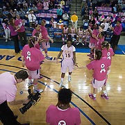 02/05/12 Newark DE: Delaware Sophomore Guard #15 Akeema Richards is introduced to the crowed prior to the start of a Colonial Athletic Association conference Basketball Game against the VCU Lady Rams, Feb. 5, 2012 at the Bob carpenter center in Newark Delaware.<br /> <br /> Special to The News Journal/SAQUAN STIMPSON.