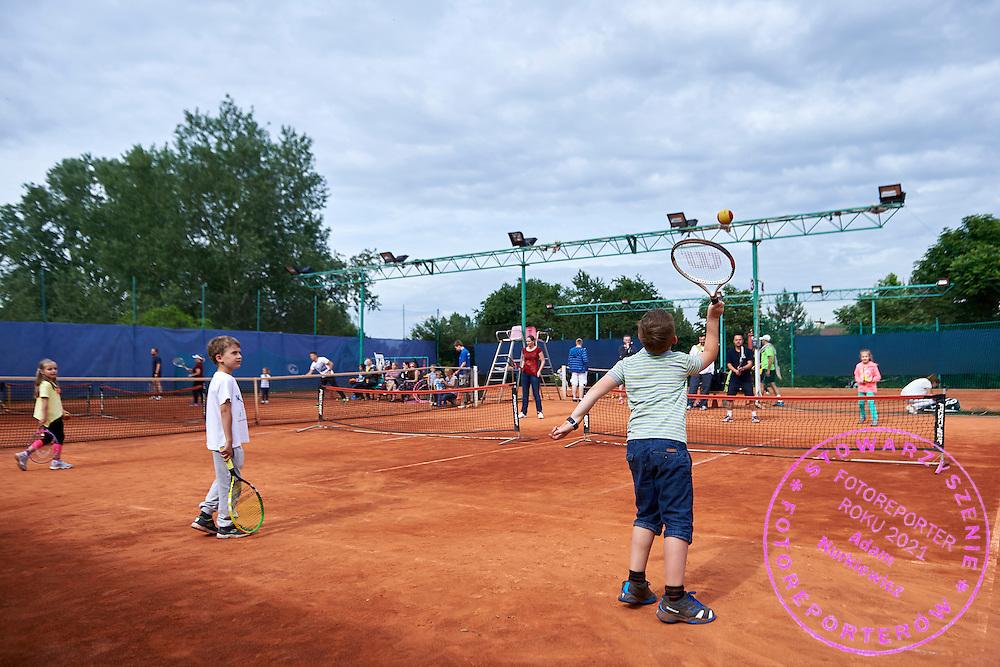 Tennis picnic at Tie Break Tennis Club in Warsaw on June 20, 2015.<br /> <br /> Poland, Warsaw, June 20, 2015.<br /> <br /> Picture also available in RAW (NEF) or TIFF format on special request.<br /> <br /> For editorial use only. Any commercial or promotional use requires permission.<br /> Adam Nurkiewicz declares that he has no rights to the image of people at the photographs of his authorship.<br /> Mandatory credit:<br /> Photo by &copy; Adam Nurkiewicz / Mediasport