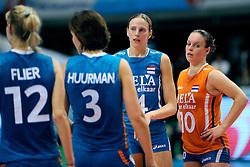 21-08-2009 VOLLEYBAL: WGP FINALS JAPAN - NEDERLAND: TOKYO<br /> Japan wint met 3-0 van Nederland / Chaine Staelens en Janneke van Tienen<br /> ©2009-WWW.FOTOHOOGENDOORN.NL