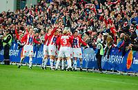 Fotball/Eliteserien/Alfheim-Tromsø: TIL (Tromsø IL) - RBK 4-1/ Morten Gamst Pedersen og Gutan jubler etter scoring av Gamstn<br /> FOTO: KAJA BAARDSEN/DIGITALSPORT