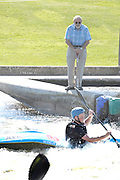 Nottingham, United Kingdom, Frank GOODMAN, at the White Water Course, he designed and pioneered the construction of the course at the National Water Sports Centre Saturday 12/09/2009, England  [Mandatory Credit. Peter Spurrier/Intersport Images]