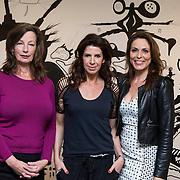 NLD/Amsterdam/20140418 - Castpresentatie film de Ontsnapping, Ineke Houtman, Isa Hoes en Heleen van Royen