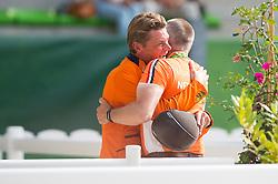 Jeroen Dubbeldam and Rob Ehrens - Show Jumping Final Four - Alltech FEI World Equestrian Games™ 2014 - Normandy, France.<br /> © Hippo Foto Team - Jon Stroud<br /> 07/09/2014