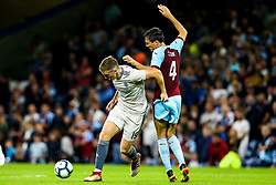 Lewis Ferguson of Aberdeen takes on Jack Cork of Burnley - Mandatory by-line: Robbie Stephenson/JMP - 02/08/2018 - FOOTBALL - Turf Moor - Burnley, England - Burnley v Aberdeen - UEFA Europa League Second Qualifier, 2nd Leg