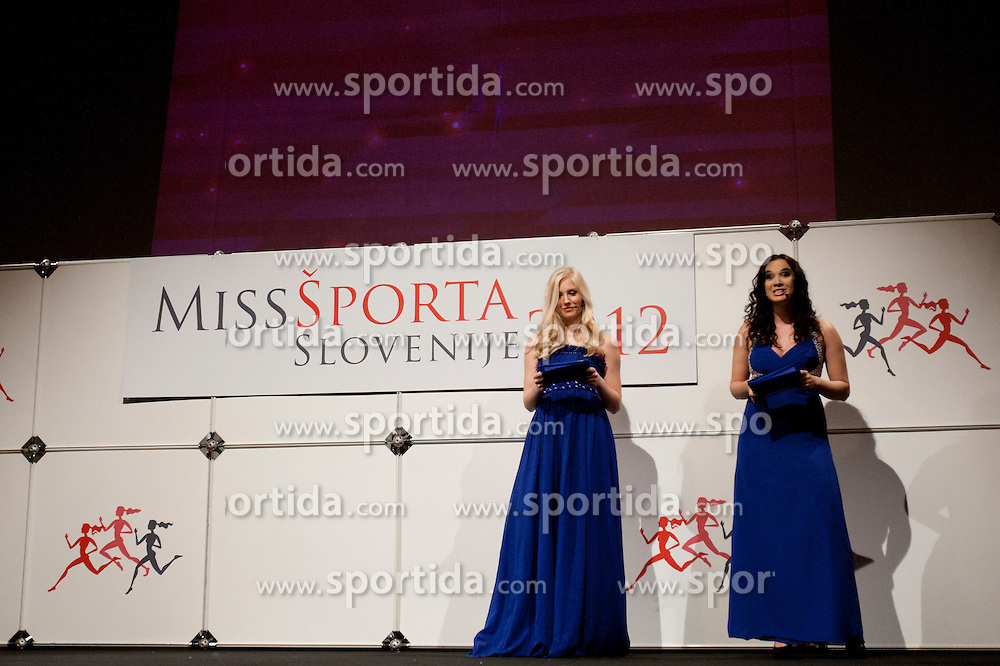 Ajda Sitar miss sports of Slovenia year 2009 and  during event Miss Sports of Slovenia 2012, on April 21, 2012, in Festivalna dvorana, Ljubljana, Slovenia. (Photo by Urban Urbanc / Sportida.com)