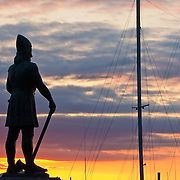 Leif Erikson statue by August Werner, Shilshole Bay, Seattle, Washington