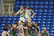 Reading, GREAT BRITAIN,left James HUDSON and Ulster's Justin HARRISON, during the third round Heineken Cup game, London Irish vs Ulster Rugby, at the Madejski Stadium, Reading ENGLAND, Sa, t 09.12.2006. [Photo Peter Spurrier/Intersport Images]..