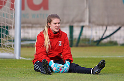 ZENICA, BOSNIA AND HERZEGOVINA - Monday, November 27, 2017: Wales' goalkeeper Claire Skinner during a training session ahead of the FIFA Women's World Cup 2019 Qualifying Round Group 1 match against Bosnia and Herzegovina at the FF BH Football Training Centre. (Pic by David Rawcliffe/Propaganda)