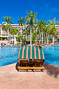 The pool at the Kauai Marriott Resort, Island of Kauai, Hawaii