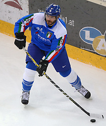 07.02.2015, Albert Schultz Eishalle, Wien, AUT, IIHF, Euro Ice Hockey Challenge, Italien vs Slowenien, im Bild Daniel Tudin (Italien, ITA) // during the IIHF Euro Ice Hockey Challenge match between Italy and Slovenia at the Albert Schultz Ice Arena, Vienna, Austria on 2015/02/07. EXPA Pictures © 2015, PhotoCredit: EXPA/ Thomas Haumer