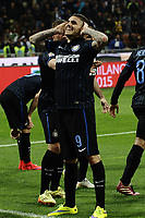 esultanza gol Mauro Icardi Inter 2-1 Goal celebration <br /> Milano 25-04-2015 Stadio Giuseppe Meazza - Football Calcio Serie A Inter - Roma. Foto Image Sport / Insidefoto