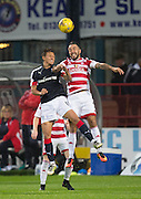 Dundee&rsquo;s Danny Williams and Hamilton&rsquo;s Dougie Imrie - Dundee v Hamilton Academical in the Ladbrokes Scottish Premiership at Dens Park<br /> <br />  - &copy; David Young - www.davidyoungphoto.co.uk - email: davidyoungphoto@gmail.com