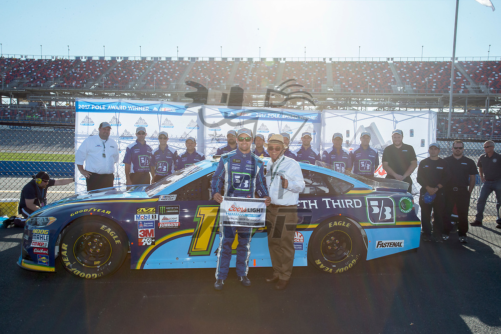 May 06, 2017 - Talladega, Alabama, USA: Ricky Stenhouse Jr. (17) wins the pole award for the GEICO 500 at Talladega Superspeedway in Talladega, Alabama.