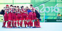 RIO DE JANEIRO  (Brazilië) -  Belgium team after  the poule match hockey men Belgium v Great Britain (4-1),  Olympic Games 2016 . Copyright Koen Suyk