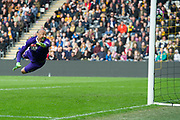 Goal 2-0 Hull City Midfielder Sam Clucas (11) scores Watford Goalkeeper Heurelho Gomes (1) misses the save during the Premier League match between Hull City and Watford at the KCOM Stadium, Kingston upon Hull, England on 22 April 2017. Photo by Craig Zadoroznyj.