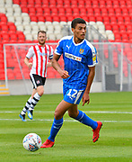 Christian Oxlade-Chamberlanin (12) of Notts County during the EFL Sky Bet League 2 match between Exeter City and Notts County at St James' Park, Exeter, England on 8 September 2018.