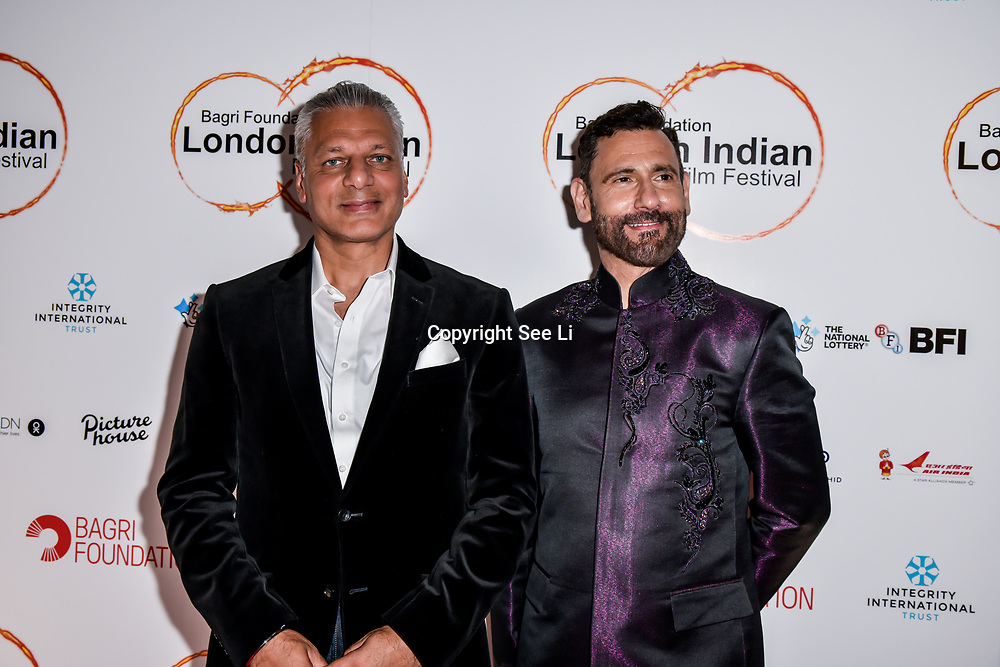 Cary Sawhney and Tony Matharu of Integrity International,Festival Patron arrives at London Indian Film Festival world premiere of Anubhav Sinha's 'Article 15' at Picturehouse Central, on 20 June 2019, London , UK.