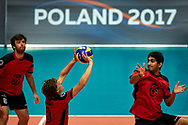 Katowice, Poland - 2017 September 01: Partner Michel Afflerbach from SO Germany receives the ball while SO Germany v SO Slovakia match during European Unified Volleyball Tournament 2017 at Spodek Hall on September 01, 2017 in Katowice, Poland.<br /> <br /> Adam Nurkiewicz declares that he has no rights to the image of people at the photographs of his authorship.<br /> <br /> Picture also available in RAW (NEF) or TIFF format on special request.<br /> <br /> Any editorial, commercial or promotional use requires written permission from the author of image.<br /> <br /> Image can be used in the press when the method of use and the signature does not hurt people on the picture.<br /> <br /> Mandatory credit:<br /> Photo by © Adam Nurkiewicz / Mediasport