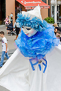 Parade in Zagreb, Croatia, to mark the opening of the 45th International Puppet Theatre Festival (PIF), which has been running every year since 1968 (Tuesday 4 September 2012). The parade moves from the main square, Trg Bana Jelacica, to Tkalciceva, a street lined with cafes.