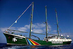 ISRAEL MEDITERRANEAN SEA 5JUL10 - The Greenpeace flagship Rainbow Warrior in the Mediterranean Sea...jre/Photo by Jiri Rezac