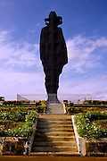 The silhouette of Sandino, a Nicaraguan revolutionary, stands over Managua, Nicaragua in the Parque Historico Nacional Loma de Tiscapa.