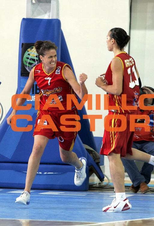 DESCRIZIONE : Chieti Italy Italia Eurobasket Women 2007 <br /> Quarti di finale Belgio Spagna Belgium Spain<br /> GIOCATORE : Isabel Sanchez<br /> SQUADRA : Spagna Spain<br /> EVENTO : Eurobasket Women 2007 Campionati Europei Donne 2007 <br /> GARA : Belgio Spagna Belgium Spain<br /> DATA : 05/10/2007 <br /> CATEGORIA : esultanza<br /> SPORT : Pallacanestro <br /> AUTORE : Agenzia Ciamillo-Castoria/H.Bellenger<br /> Galleria : Eurobasket Women 2007 <br /> Fotonotizia : Chieti Italy Italia Eurobasket Women 2007 Quarti di finale Belgio Spagna Belgium Spain<br /> Predefinita :