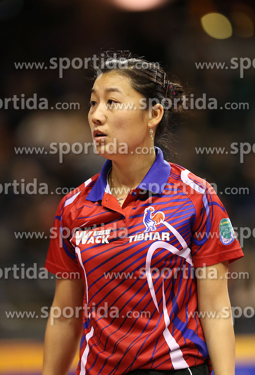 29.01.2016, Max Schmeling Halle, Berlin, GER, Tischtennis, German Open 2016, im Bild Xue Li (FRA) // during the table Tennis 2016 German Open at the Max Schmeling Halle in Berlin, Germany on 2016/01/29. EXPA Pictures &copy; 2016, PhotoCredit: EXPA/ Eibner-Pressefoto/ Wuest<br /> <br /> *****ATTENTION - OUT of GER*****
