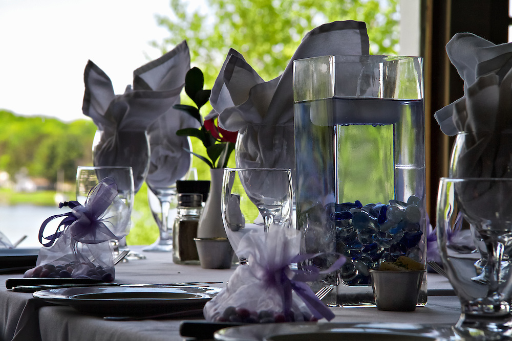 Table setting for Tracey + Harvey's special day.