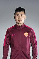 Portrait of Chinese soccer player Exmetjan Ekber of Yanbian Funde F.C. for the 2017 Chinese Football Association Super League, in Namhae County, South Gyeongsang Province, South Korea, 11 February 2017.