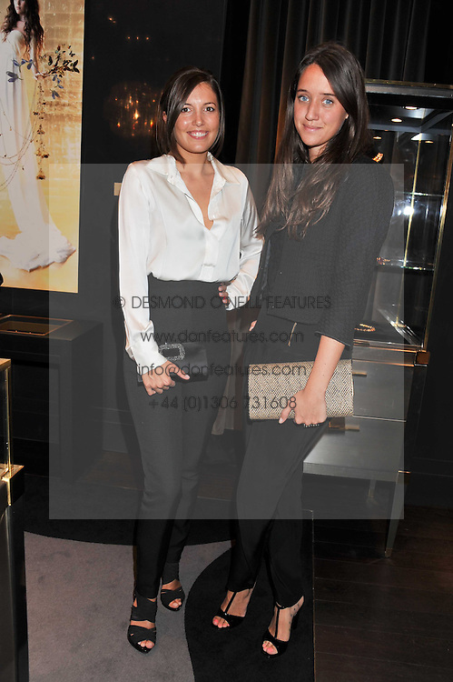 Left to right, AMANDA SHEPPARD and INDIA LANGTON at a private view of jewellery and photographs by Rosie Emerson and Annoushka Ducas entitled Alchemy in association with Ruinart Champagne held at Annoushka, 41 Cadogan gardens, London SW3 on 15th September 2011.