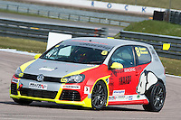#8 Hamish  BRANDON  Panda Racing Volkswagen Golf Milltek Sport Volkswagen Racing Cup at Rockingham, Corby, Northamptonshire, United Kingdom. April 30 2016. World Copyright Peter Taylor/PSP.