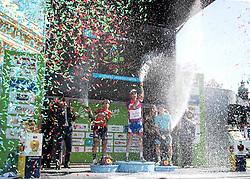 20.04.2018, Innsbruck, AUT, Tour of the Alps, Österreich, 5. Etappe, von Rattenberg nach Innsbruck (164,2 km), im Bild v.l. Domenico Pozzovivo (ITA, Bahrain Merida Pro Cycling Team), Thibaut Pinot (FRA, Groupama - FDJ), Moreno Miguel Angel Lopez (COL, Astana Pro Team) // f.l. Domenico Pozzovivo of Italy Bahrain Merida Pro Cycling Team Thibaut Pinot of France Team Groupama - FDJ Miguel Angel Lopez Moreno of Colombia (Astana Pro Team) during 5th stage from Rattenberg to Innsbruck of 2018 Tour of the Alps in Innsbruck, Austria on 2018/04/20. EXPA Pictures © 2018, PhotoCredit: EXPA/ Reinhard Eisenbauer