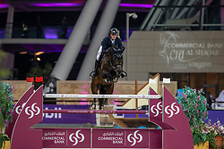 TEBBEL Maurice (GER), Don Diarado<br /> Doha - CHI Al SHAQAB 2020<br /> Commercial Bank CHI Al Shaqab Grand Prix presented by LONGINES<br /> Int. jumping competition over two rounds and jump-off (1.60 m)<br /> 29. Februar 2020<br /> © www.sportfotos-lafrentz.de/Stefan Lafrentz