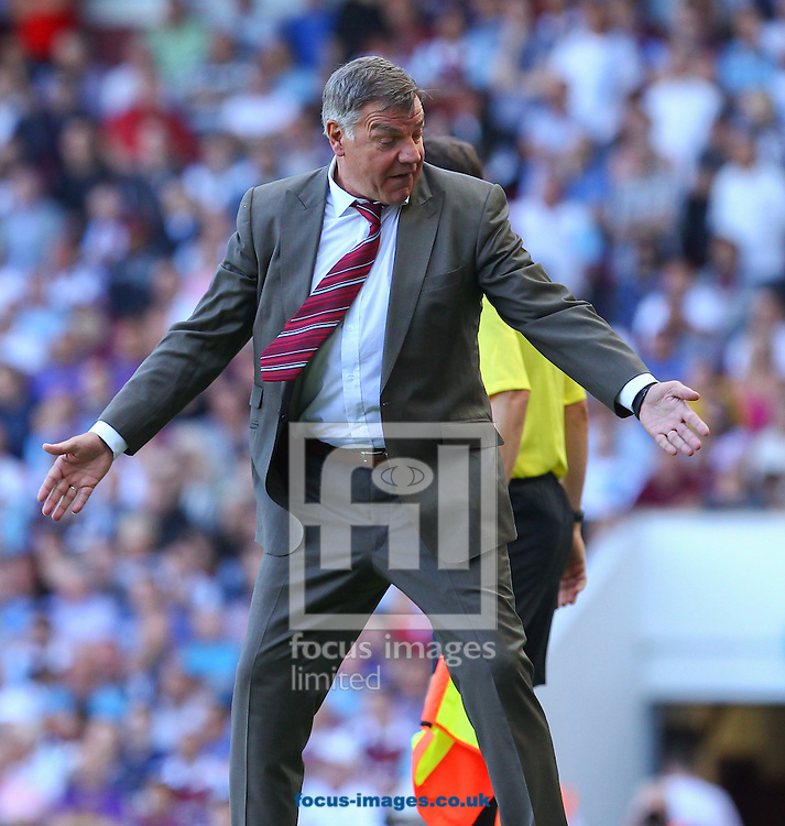 Picture by John Rainford/Focus Images Ltd +44 7506 538356<br /> 31/08/2013<br /> Sam Allerdyce, manager of West Ham United during the Barclays Premier League match at the Boleyn Ground, London.