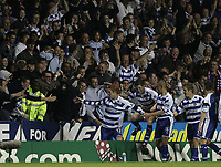 Photo: Lee Earle.<br /> Reading v Newcastle United. The Barclays Premiership. 30/04/2007.The Reading fans celebrate along with Dave Kitson (L) after he scored their opening goal.