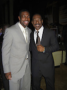 Chris Tucker & Eddie Murphy.Black Enterprise Magazine Party.Beverly Whilshire Hotel.Beverly Hills, California, USA.Wednesday, February 21, 2007.Photo By Celebrityvibe; .To license this image please call (212) 410 5354 ; or.Email: celebrityvibe@gmail.com ;