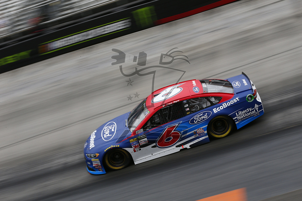August 18, 2017 - Bristol, Tennessee, USA: Trevor Bayne (6) takes to the track to practice for the Bass Pro Shops NRA Night Race at Bristol Motor Speedway in Bristol, Tennessee.