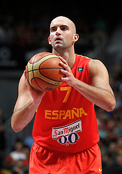 23.08.2013, Palacio de los Deportes, Madrid, ESP, Basketball Freundschaftsspiel, Spanien vs Frankreich, im Bild Spain's Xavi Rey // during a Basketball international friendly between Spain and France, Palacio de los Deportes in Madrid, Spain on 2013/08/23. EXPA Pictures © 2013, PhotoCredit: EXPA/ Alterphotos/ Acero<br /> <br /> ***** ATTENTION - OUT OF ESP and SUI *****