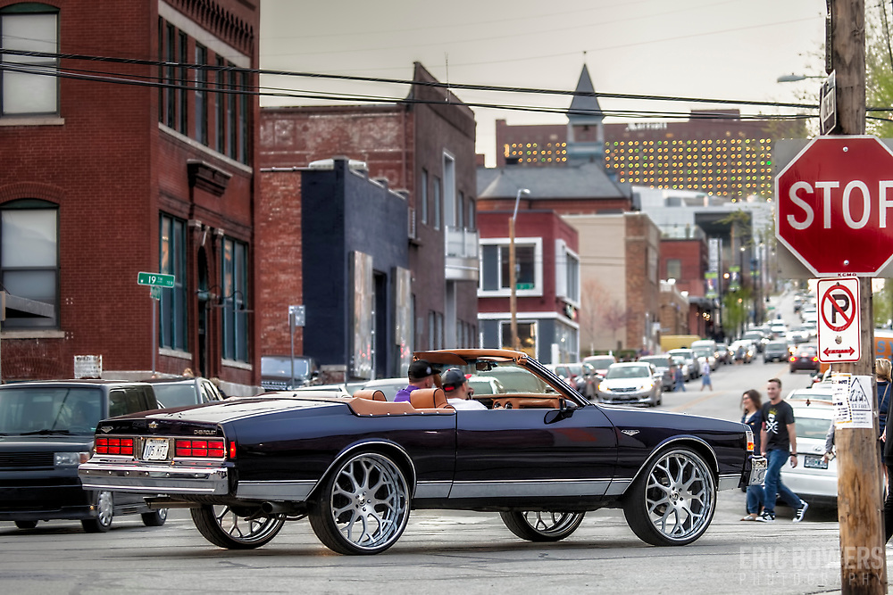 Restored Chevy Caprice out for a drive during a First Friday event in Kansas City, Missouri.