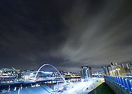 Taken from just outside the entrance to the Sage I was not only able to capture a modern view of the Tyne cityscape, but with a dramatic sky. Fortune favoured me here with the clean dark sky with wispy and perfectly directed cloud. I really wanted to take advantage of the this and thus along with setting a very long exposure deliberately broke the thirds rule of composition. Certainly from my eye it has created perfect lashes of lines directing the viewer to the epicenter that is known as 'The eye'. Keeping the wall in at the bottom left, with it's slight distortion by the wide angle lens, actually helps the eye from falling out of the frame and ushering it back towards the Baltic Mills.