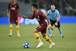 October 2, 2018 - Rome, Rome, Italy - Justin Kluivert of AS Roma during the UEFA Champions League group stage match between Roma and FC Viktoria Plzen at Stadio Olimpico, Rome, Italy on 2 October 2018. (Credit Image: © Giuseppe Maffia/NurPhoto/ZUMA Press)